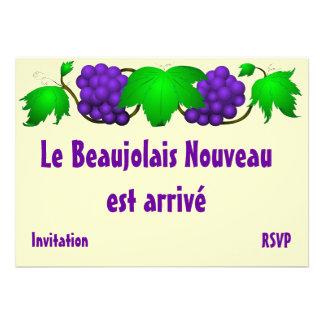 Beaujolais nouveau invitation cream