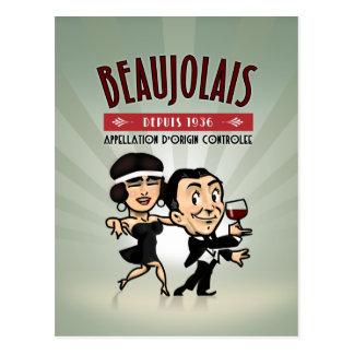 Beaujolais Wine Postcard