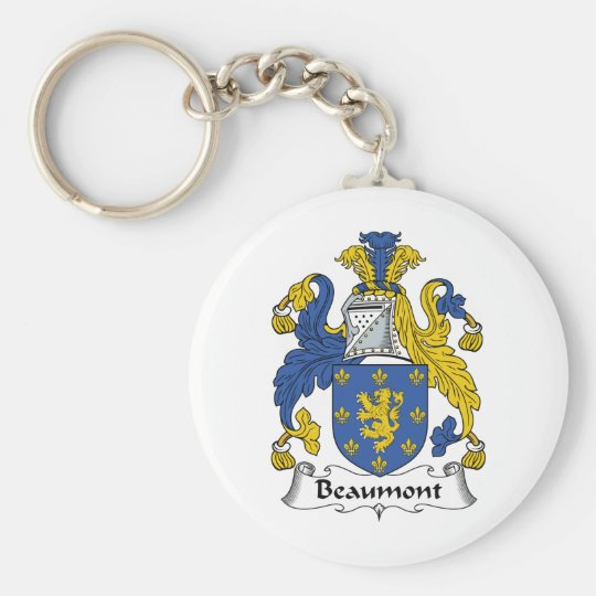 Beaumont Family Crest Basic Round Button Key Ring