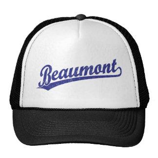 Beaumont script logo in blue cap