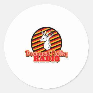 Beaumont Valley Radio Classic Round Sticker
