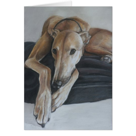 Beauregard Greyhound Dog Art Greeting Card