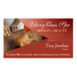Beauté Salon Day Spa Massage Therapy Aromatherapy Pack Of Standard Business Cards