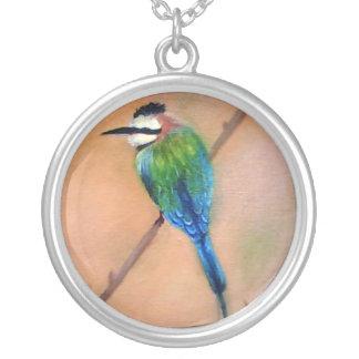 Beautful bird silver plated necklace