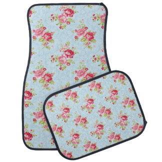 Beautful Floral Vintage Car Mats