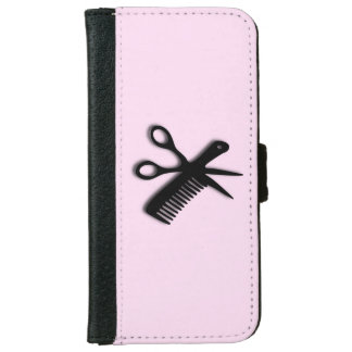 Beautician Design Pink iPhone 6 Wallet Case