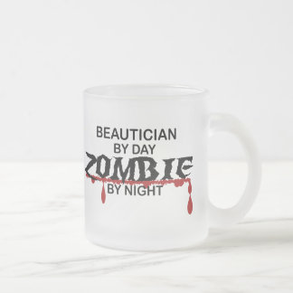 Beautician Zombie Frosted Glass Mug