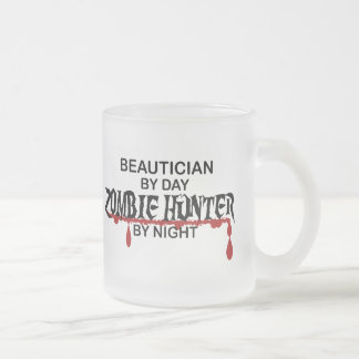 Beautician Zombie Hunter Frosted Glass Mug