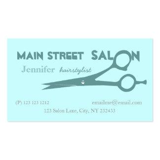 Beauticians Hair Cutting Scissors Business Card Templates