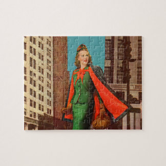 beautiful 1940s uptown girl puzzle