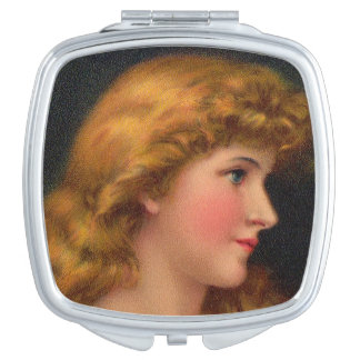 beautiful 19th century woman mirror for makeup