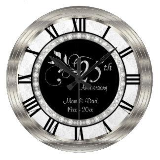 Beautiful 25th Silver Diamond Anniversary Clocks