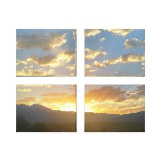 Beautiful 4 Canvas Sunset Golden Hour Canvas Print