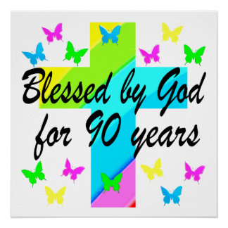 BEAUTIFUL 90TH CHRISTIAN BIRTHDAY PRAYER DESIGN