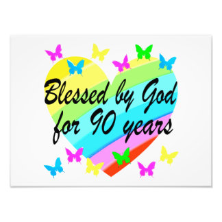 BEAUTIFUL 90TH CHRISTIAN BIRTHDAY PRAYER DESIGN ART PHOTO