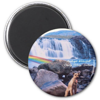 Beautiful Aasleagh Waterfall Galway Ireland Magnet