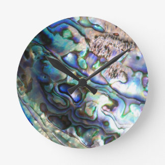 Beautiful abalone shell round clock