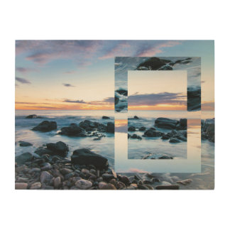 Beautiful Abstract Beach Wall Art Sunset Waves