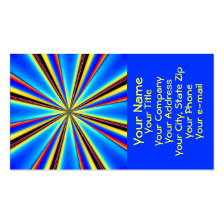 Beautiful Abstract Business Card: Blue Starburst 1 Pack Of Standard Business Cards