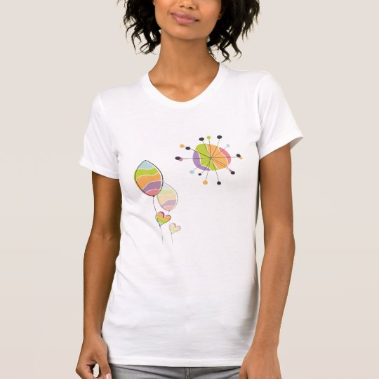 Beautiful Abstract Flower and Sun T-Shirt