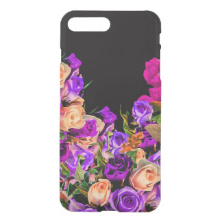 Beautiful Abstract Flowers Black Background iPhone 7 Plus Case