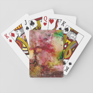 Beautiful abstract forest playing cards