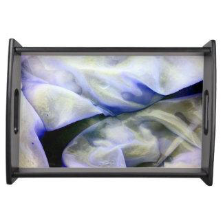 Beautiful Abstract Nature White and Blue Serving Tray