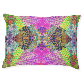 Beautiful Abstract Pattern Dog Bed