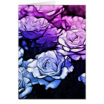 Beautiful Abstract Purple Roses Greeting Cards