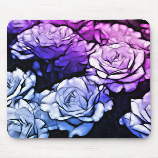 Beautiful Abstract Purple Roses Mouse Pad