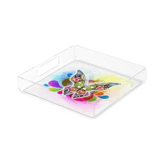 Beautiful Acrylic Butterfly Tray