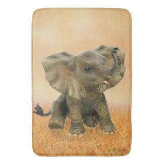 Beautiful African Baby Elephant Bath Mat