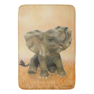 Beautiful African Baby Elephant Bath Mats