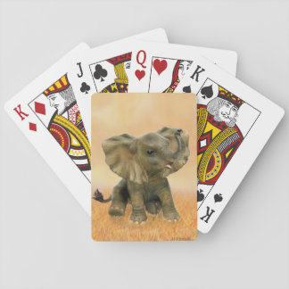 Beautiful African Baby Elephant Playing Cards