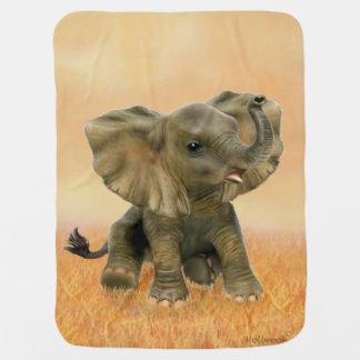 Beautiful African Baby Elephant Pramblankets