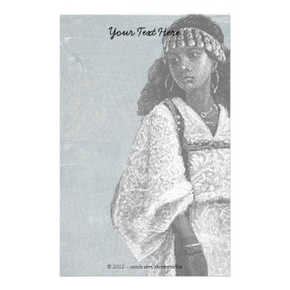 Beautiful African Girl Stationery