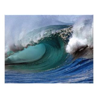 Beautiful afternoon, Hawaiian curl Full Color Flyer