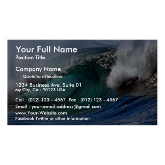 Beautiful afternoon, Hawaiian curl Pack Of Standard Business Cards