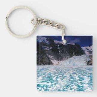 Beautiful Alaska Glacier keychain