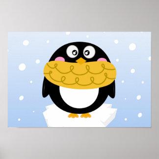 Beautiful Alaska Penguin Poster for Kids