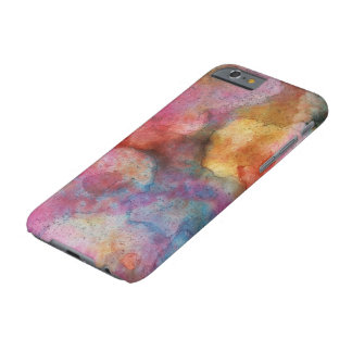 Beautiful Alcohol Ink Painting Pattern Pink Purple Barely There iPhone 6 Case