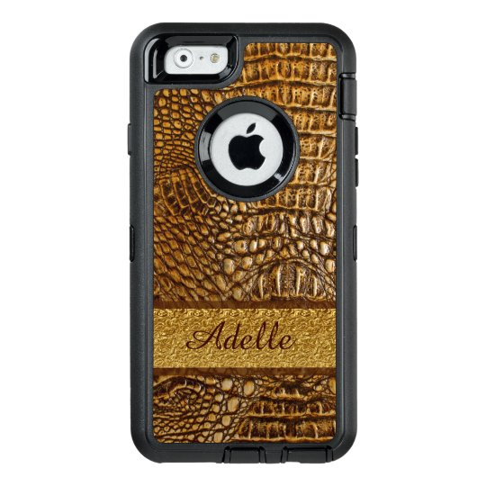Beautiful Alligator Skin Custom Monogram OtterBox Defender iPhone