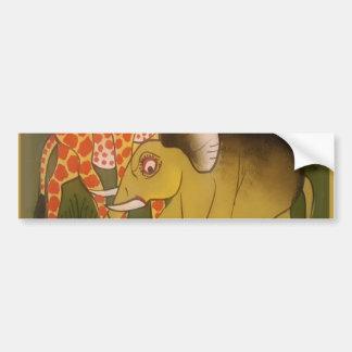 Beautiful Amazing African wild animal safari color Bumper Sticker