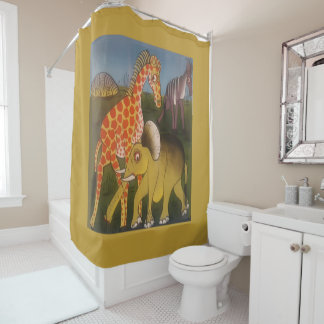 Beautiful Amazing African wild animal safari color Shower Curtain