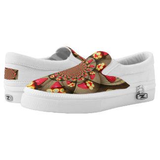 Beautiful Amazing red strawberry kaleidoscope girl Printed Shoes