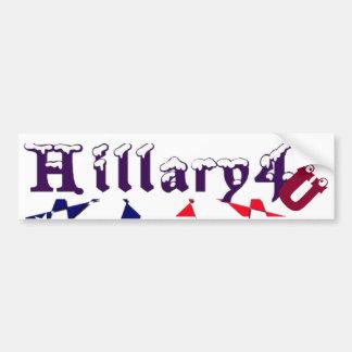 Beautiful Amazing USA Hillary 4 You Snow-Cap Text Bumper Sticker