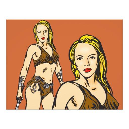 Beautiful Amazon Women Custom Flyer