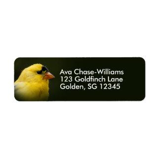 Beautiful American Goldfinch Return Address Label