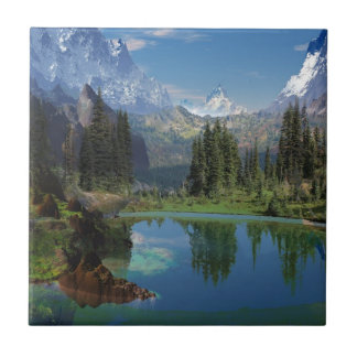 Beautiful American Rocky Mountain  Gifts Tile