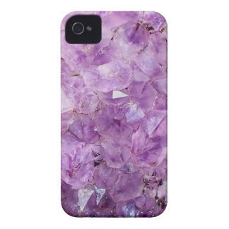 beautiful amethyst crystals, photograph iPhone 4 cases